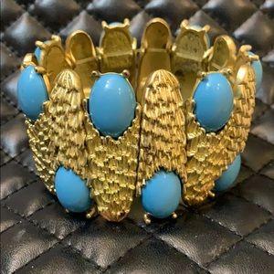Vintage Mid Century Gold Stone Cocktail Bracelet